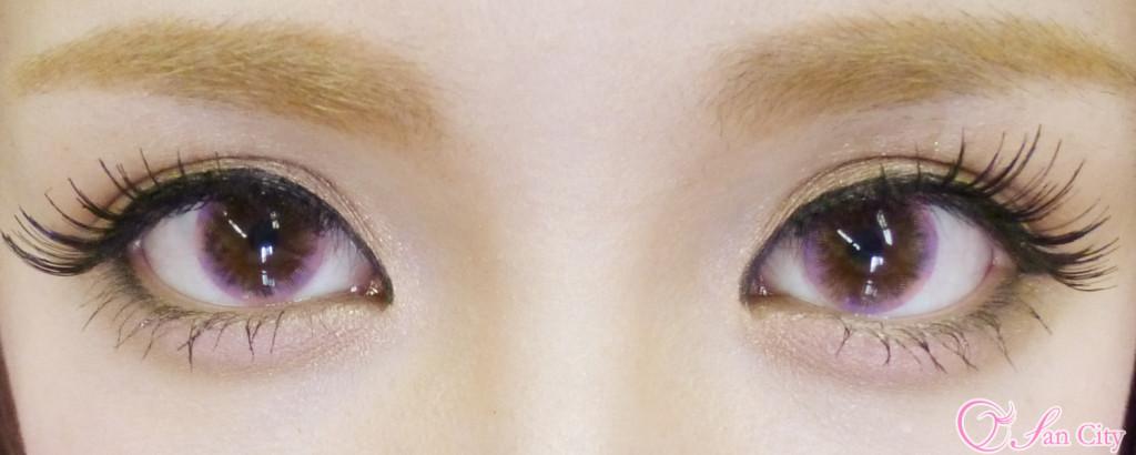 カラコンエレーブブロッサム装着画像両目