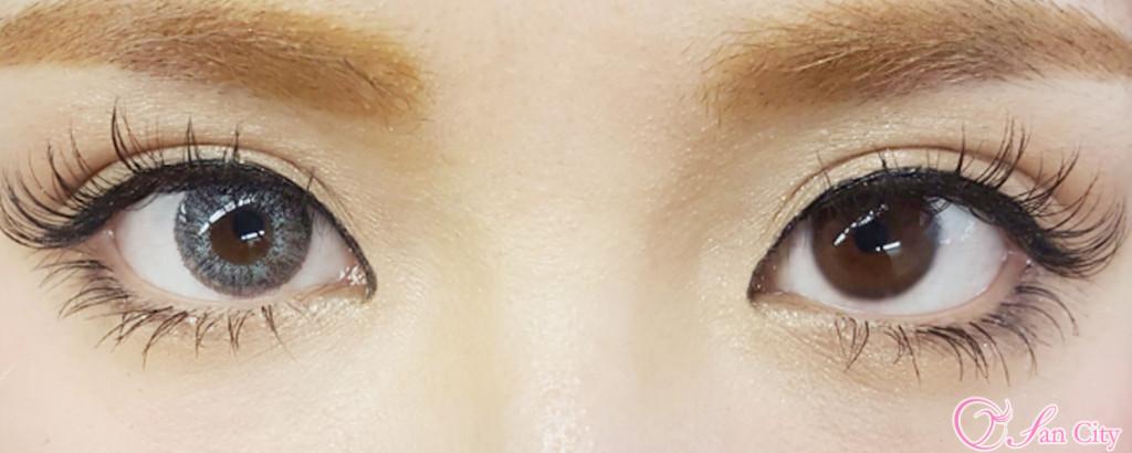 エコネコミストリリー装着画像裸眼との比較