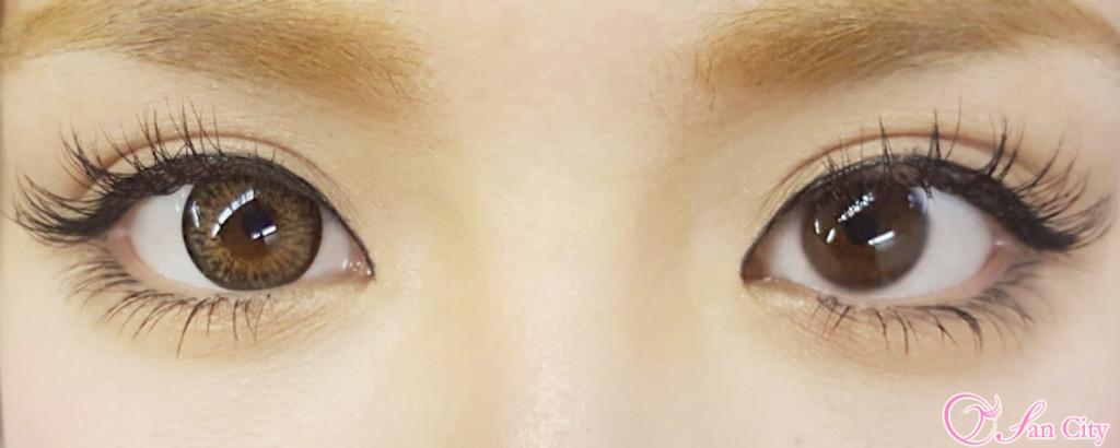 レディオアガールヘーゼル裸眼との比較