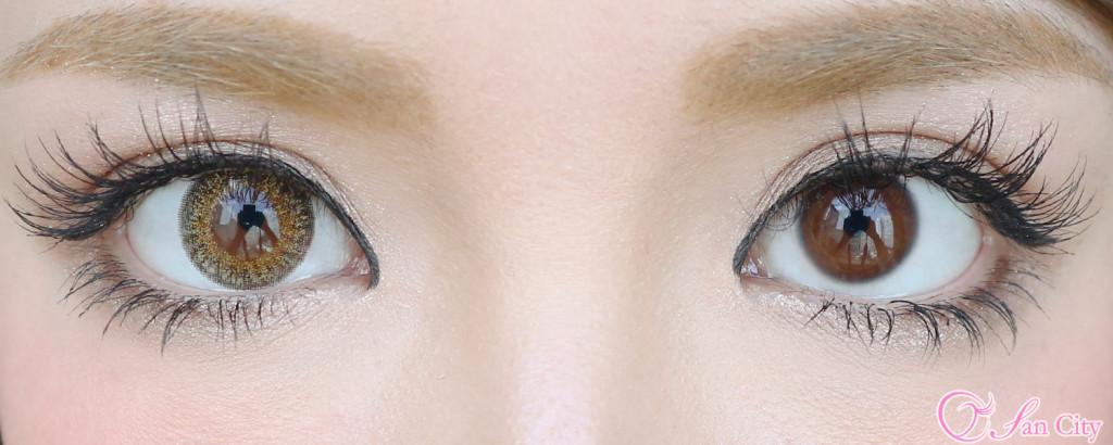 ダイヤワンデーアメリアヘーゼルの裸眼との比較