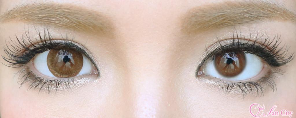 ダイヤワンデーエマショコラ裸眼との比較画像