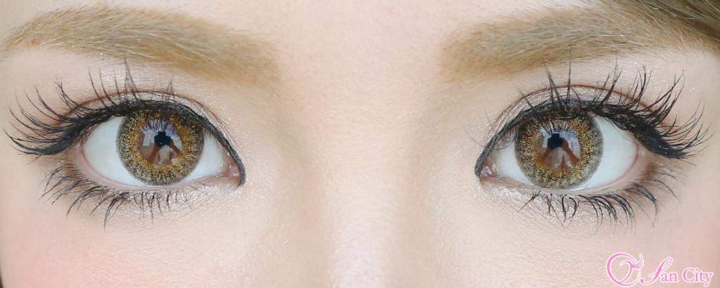 ダイヤワンデーアメリアヘーゼルの両目装着画像