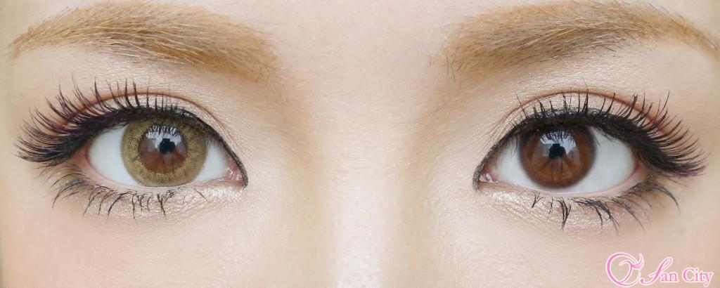 リルムーンスキンベージュの裸眼とのひ比較