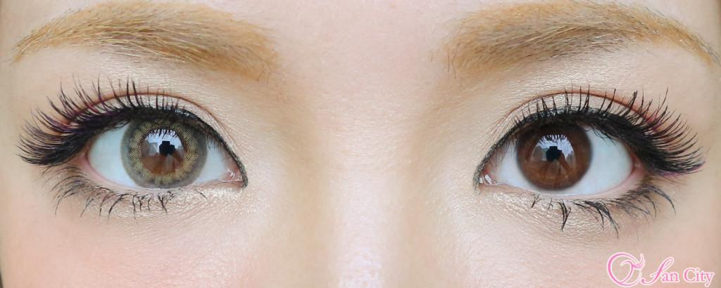 リルムーンスキングレージュ裸眼との比較