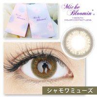【レポ】ミッシュブルーミン マンスリー シャモワミューズ/1か月交換でコスパ良♥カーキの発色コンタクトでいつもと違う瞳に♪