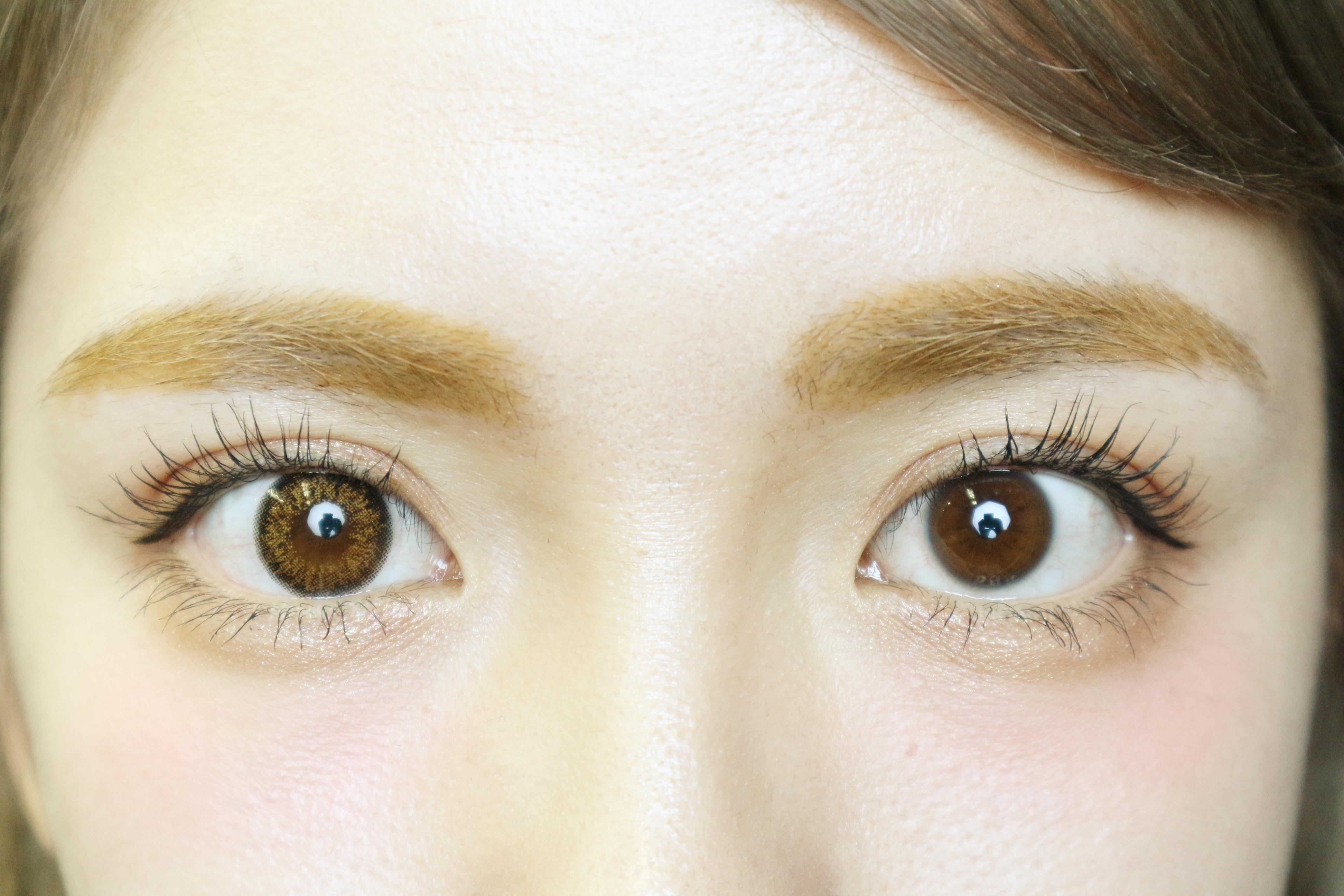 ダイヤワンデーマビィ裸眼との比較写真